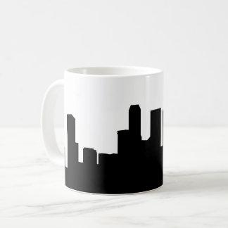 singapore city skyline silhouette coffee mug