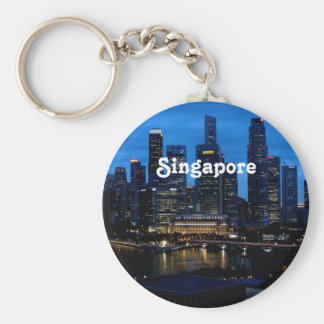 Singapore Cityscape Keychain