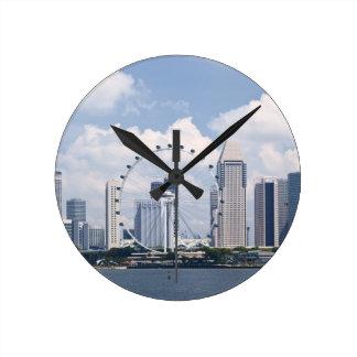 Singapore cityscape wall clock