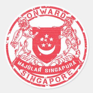 Singapore Coat of Arms Classic Round Sticker