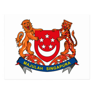 Singapore Coat of Arms Postcard