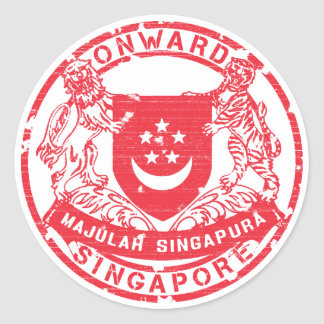 Singapore Coat of Arms Round Sticker