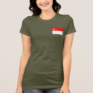 Singapore Flag and Map dk T-Shirt