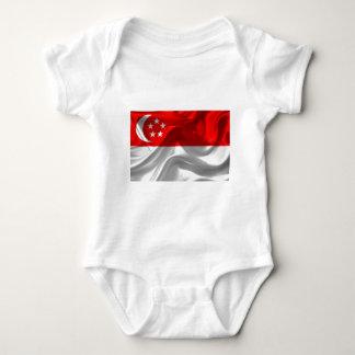 singapore-Flag Baby Bodysuit