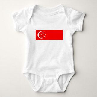 Singapore flag baby bodysuit