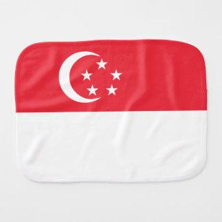 Singapore Flag Baby Burp Cloth