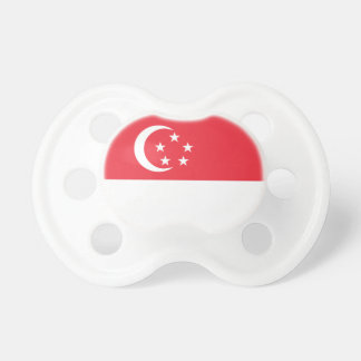 Singapore Flag Baby Pacifiers