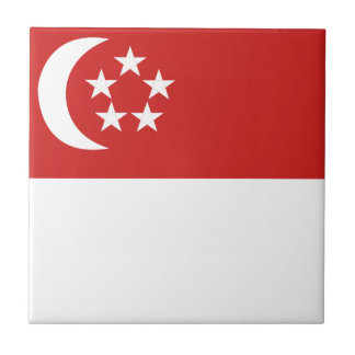 Singapore flag ceramic tile