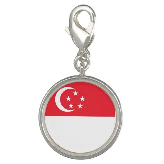 Singapore Flag Charm