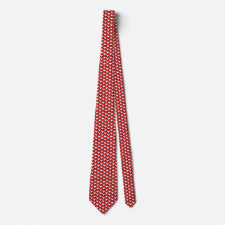 Singapore Flag Hearts Tie