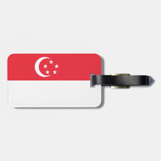 Singapore Flag Luggage Tag