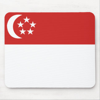 Singapore flag mouse pad