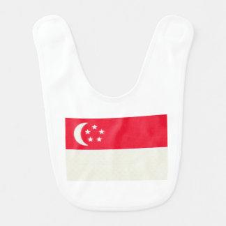 Singapore Flag Oil Painting Bibs