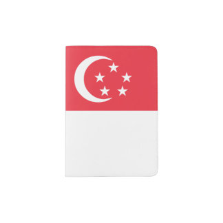 Singapore Flag Passport Holder