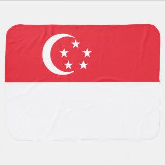 Singapore Flag Receiving Blankets