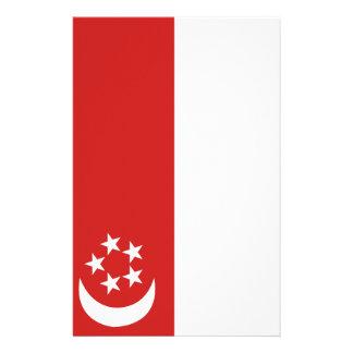 Singapore flag stationery