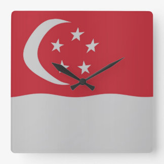 Singapore flag wall clock