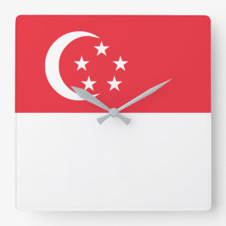 Singapore Flag Wallclock