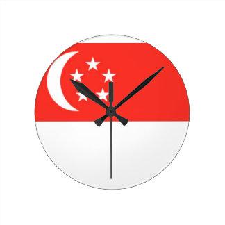 Singapore Flag Wallclock