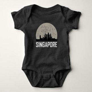 Singapore Full Moon Skyline Baby Bodysuit