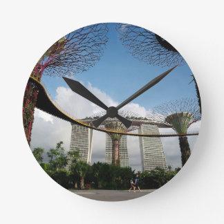 Singapore - Garden By The Bay and Marina Bay Sands Round Clock