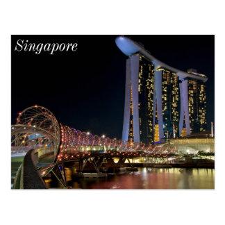 Singapore Helix Bridge on Marina Bay Sands Postcard