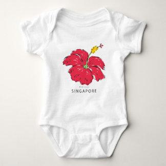 SINGAPORE HIBISCUS COLLECTION BABY BODYSUIT