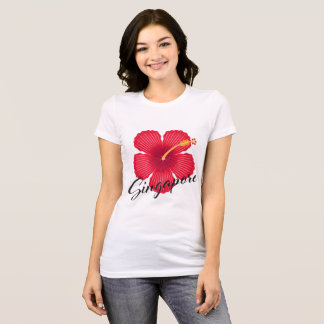 SINGAPORE HIBISCUS T-Shirt (Light Fabrics) v.2