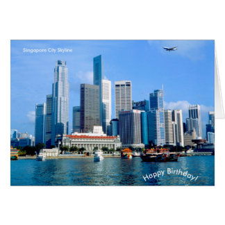 Singapore image for Birthday greeting card