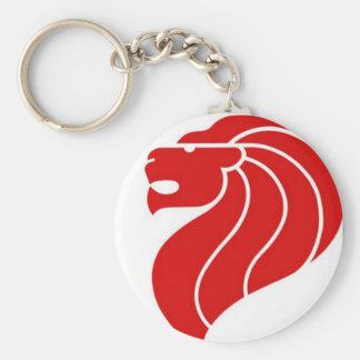 singapore lion logo keychain