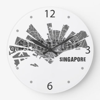 Singapore Map Clock