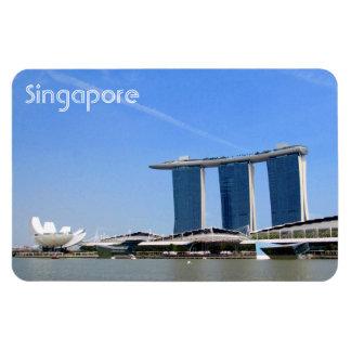singapore marina bay rectangular photo magnet