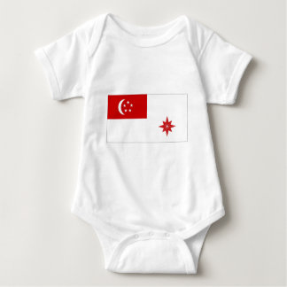 Singapore Naval Ensign Baby Bodysuit
