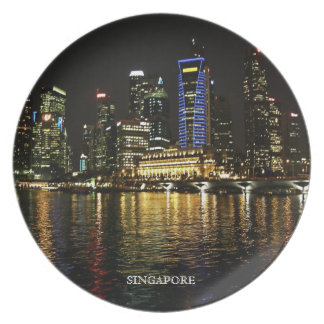 Singapore Night Lights Plate