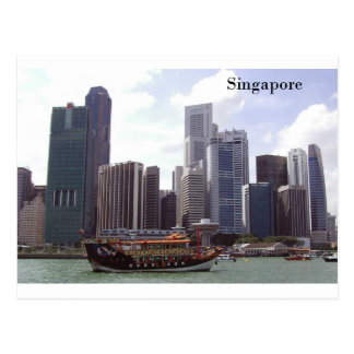 Singapore Port (by St.K) Postcard