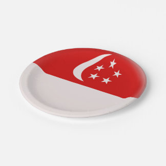 Singapore Singapura Singaporean Flag Paper Plate