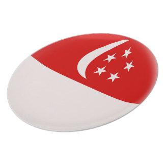 Singapore Singapura Singaporean Flag Plate