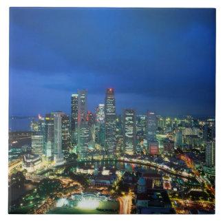 Singapore Skyline at night, Singapore Ceramic Tiles