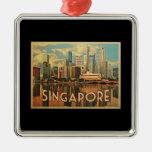 Singapore Skyline Christmas Tree Ornament