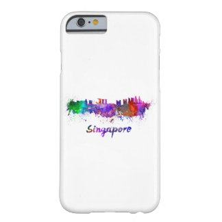 Singapore skyline in watercolor barely there iPhone 6 case