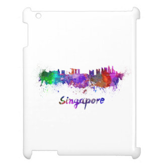 Singapore skyline in watercolor iPad cases