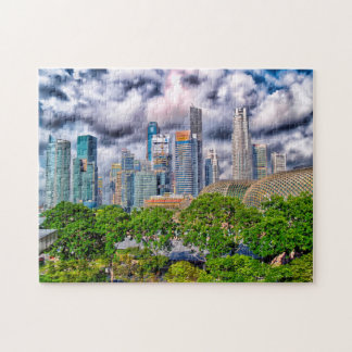 Singapore Skyscrapers . Jigsaw Puzzle