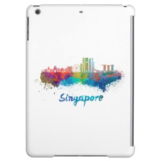 Singapore V2 skyline in watercolor iPad Air Case