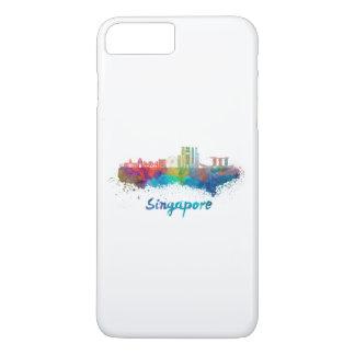 Singapore V2 skyline in watercolor iPhone 8 Plus/7 Plus Case