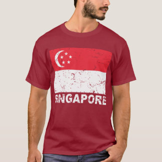 Singapore Vintage Flag T-Shirt