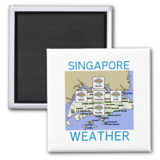Singapore Weather Magnet