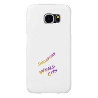 Singapore world city, colorful text art samsung galaxy s6 cases