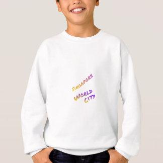 Singapore world city, colorful text art sweatshirt