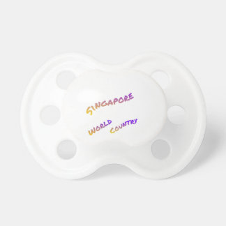 Singapore world country, colorful text art pacifier
