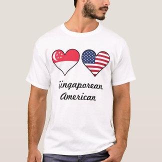 Singaporean American Flag Hearts T-Shirt